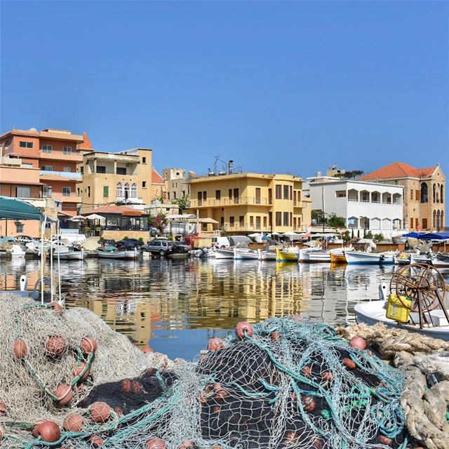 The fishing harbor 🎣🛶🎨•••••••••••••••••••••••••••• fishing harbor ... (Tyre, Lebanon)
