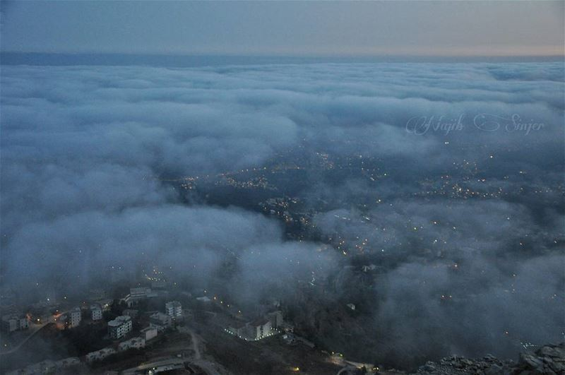 fog woods clouds dinniyah hiking hikingadventures hike scout ... (Sir Ad Dinniyah, Liban-Nord, Lebanon)