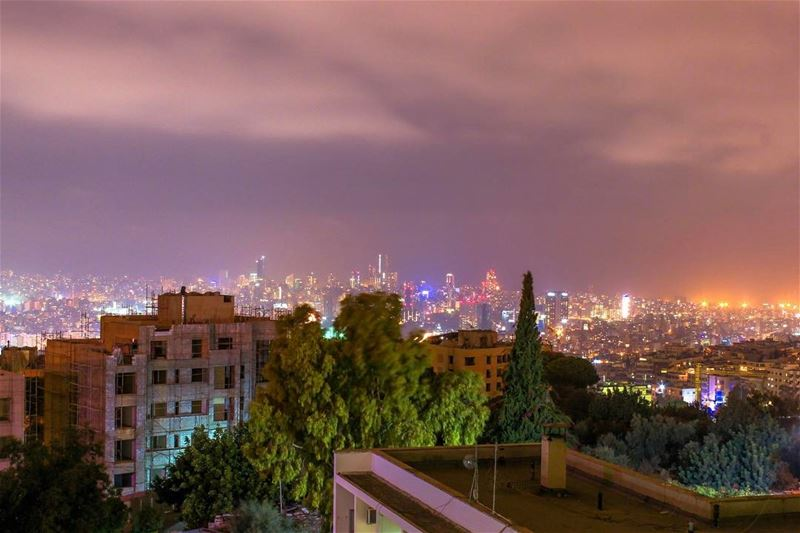 Duty saintcharles hospital Beirut city Lights landscape sightseeing... (Fayyadiyah, Mont-Liban, Lebanon)