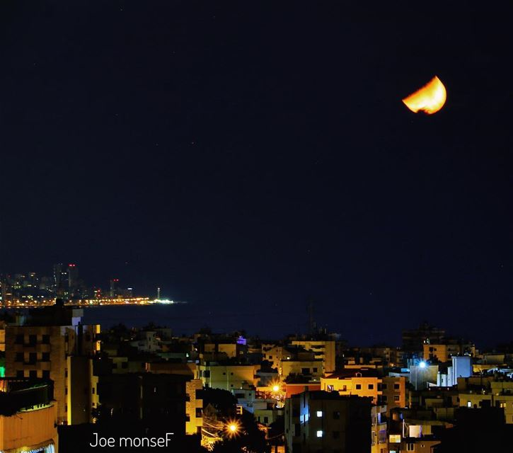 night nightphotography moon moonlight light beirut lebanon jounieh...