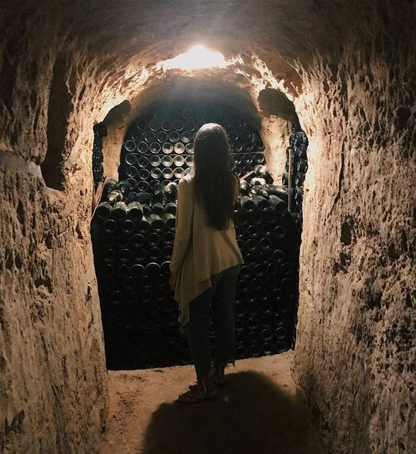 These bottles of wine are hundreds of years old 🍷 If you're a wine... (Château Ksara)