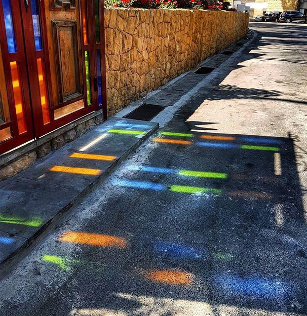 Something that caught my eye sunreflection colors marchaaya brummana ... (Bou Emile)