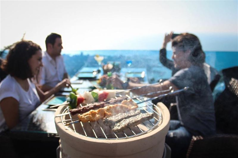 Grill to perfection!👌 LunchWithAView Mashewe LebaneseFood ... (The Terrace - Restaurant & Bar Lounge)