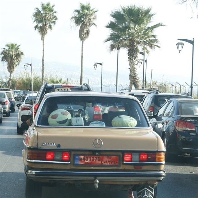 Catching the eye of a smiley in beirut traffic is something fun ...... (Beirut, Lebanon)