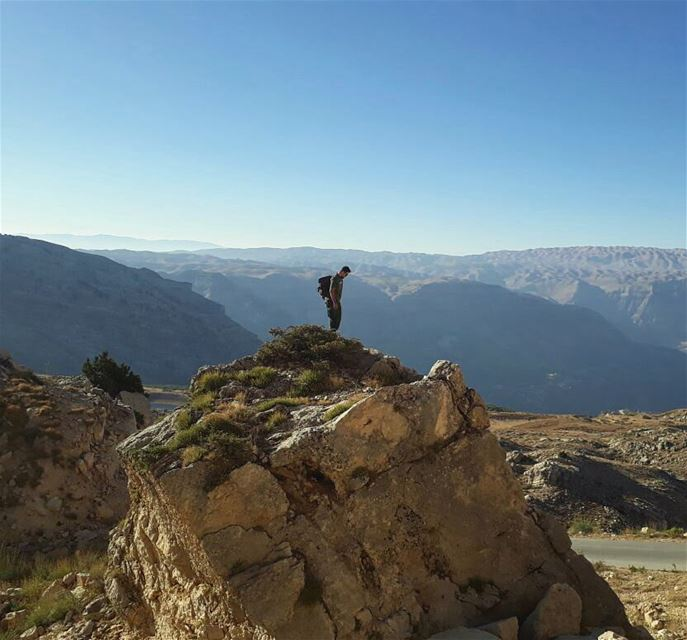 Here I stand alone enjoying my own company...... rockymountains ... (El Laklouk, Mont-Liban, Lebanon)