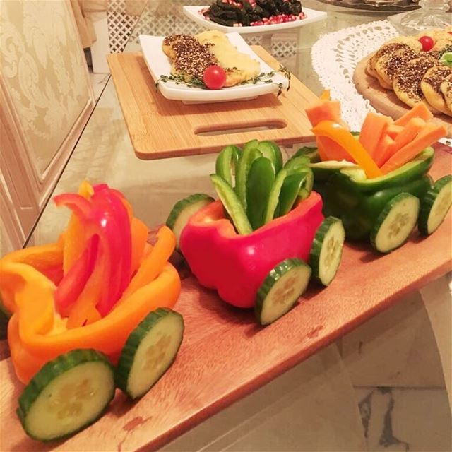Za3tarino's vegetable Train, fun food creations, Let our chefs surprise...