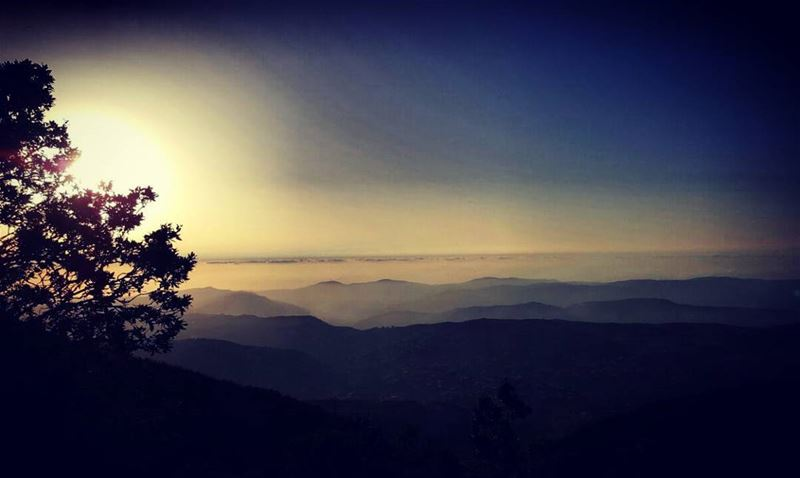 Sunsets are a proof that end could be beautiful too sunset mountain ... (Arz el Bâroûk)