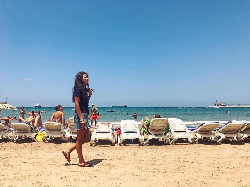 Summer 👋👋•••••••••••••••••• sea sun summer Lebanon thisislebanon ... (Chekka Florida Beach)