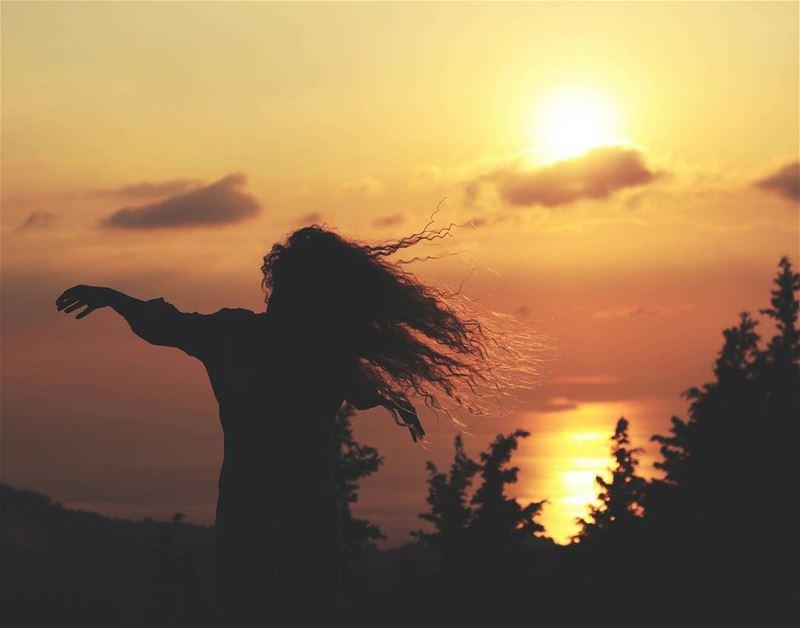 💛.. sunset mountains shaka hawaii silhouette sunsets trees ...