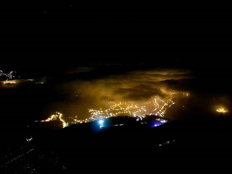 I could still see sunset even in the darkest nights! lebanon faraya ... (Faraya, Mont-Liban, Lebanon)