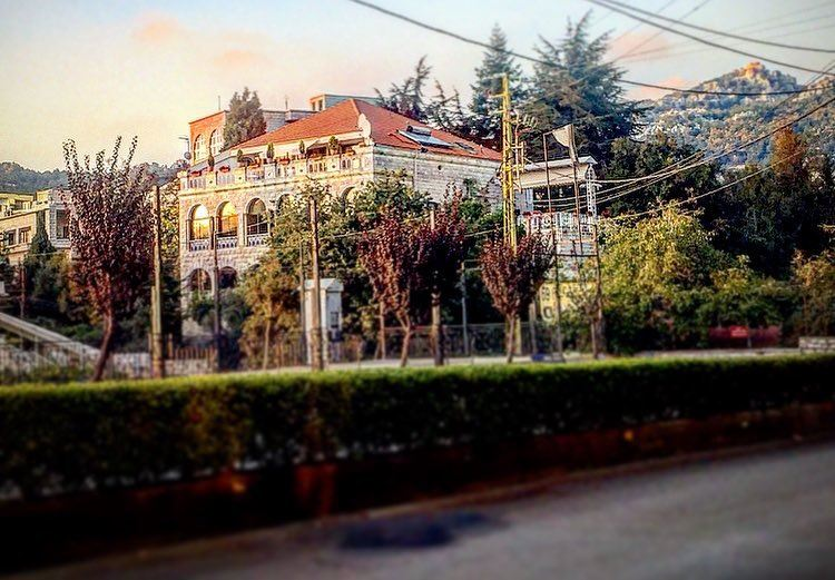 🏠🍂 house trees village autumn season beautiful view lebanon ... (Achkoute, Mont-Liban, Lebanon)