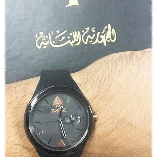 proudly wearing my 10452DNA fashionwatch proudlylebanese ... (Internal Security Forces lebanon)
