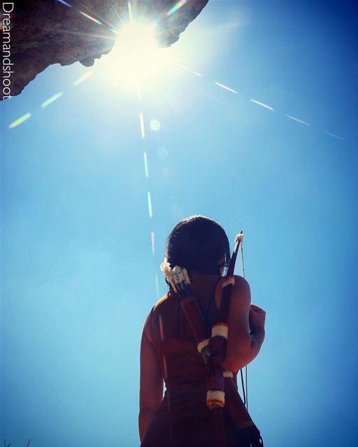 TBT Pocahontas photoshoot by @adham_mayas @sylamc lebanon cloudporn ... (Niha Fortress - قلعة نيحا)