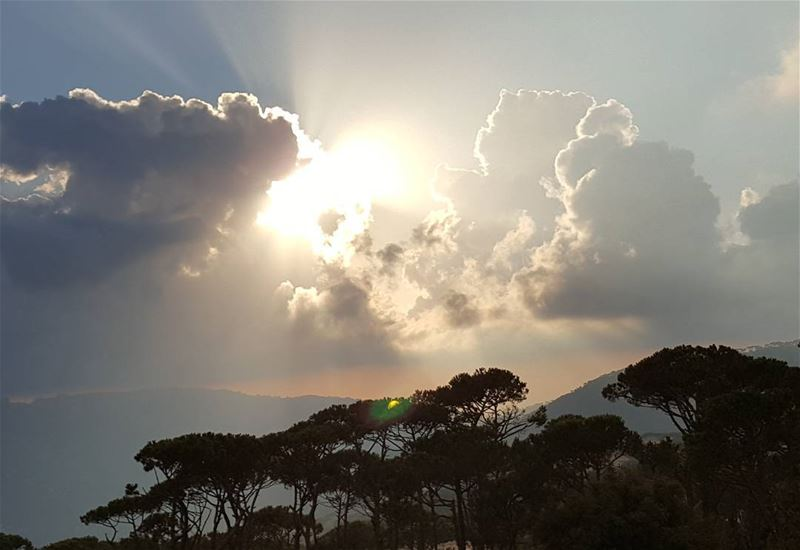 """Sunsets are so beautiful that they almost seem as if we were looking... (Mount Lebanon Governorate)"