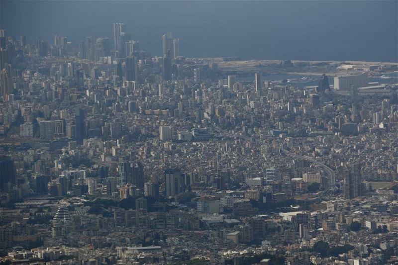 lookingdown on beirut from beitmery lebanon lebanonbyalocal ... (Beit Meri, Mont-Liban, Lebanon)