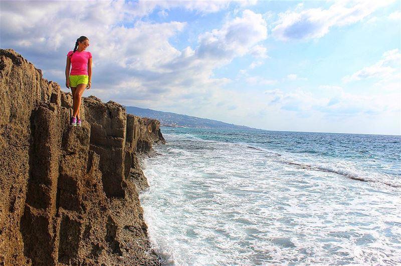 Standing tall 😌🌊 Phoenicianwall Seawall Phoenicians Ancient Civilization... (Phoenician W)