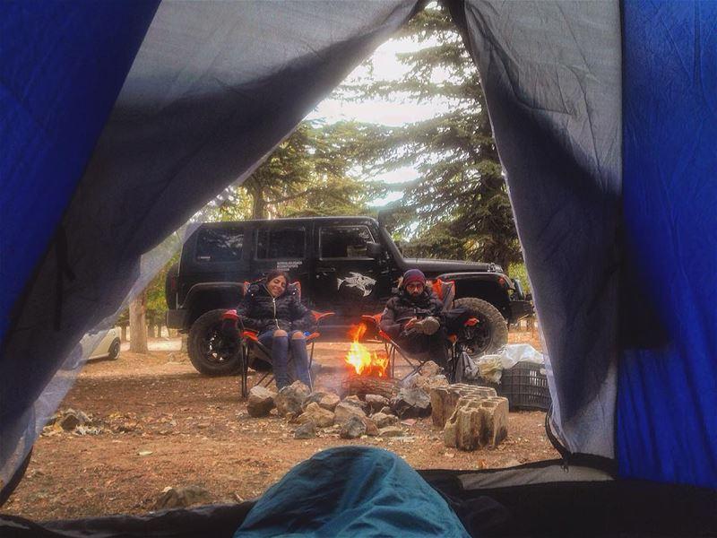 Wishing the beautiful people a very happy new year ❤..... camping ... (Qanat Bakish, Mont-Liban, Lebanon)