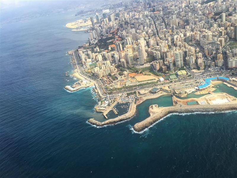 lebanon liban amazingview of beirutcity beirut city fromabove sea ... (Beirut, Lebanon)