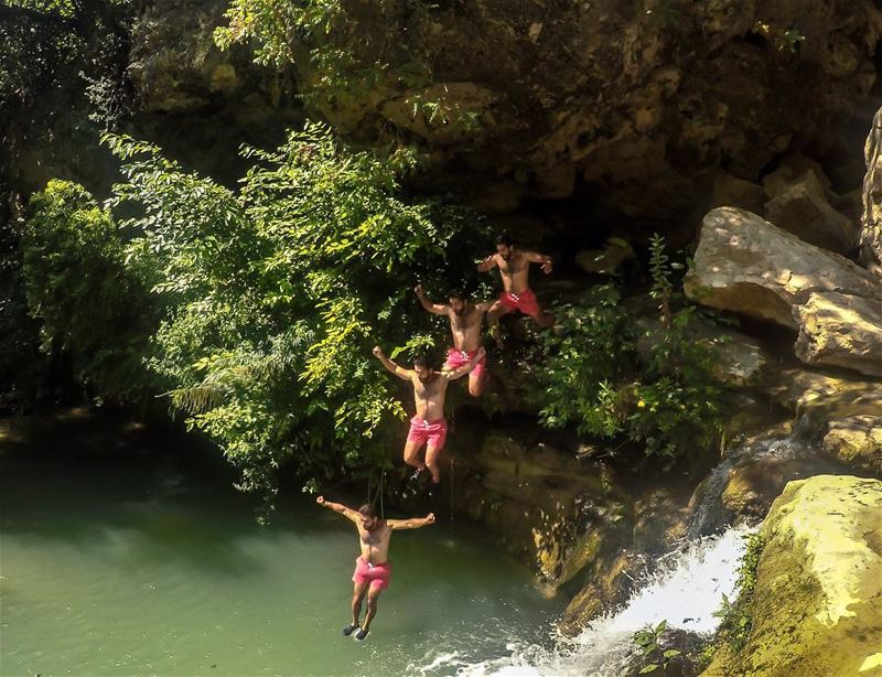If you search hard enough, We have some pretty sweet cliff jumps ... (Lebanon)