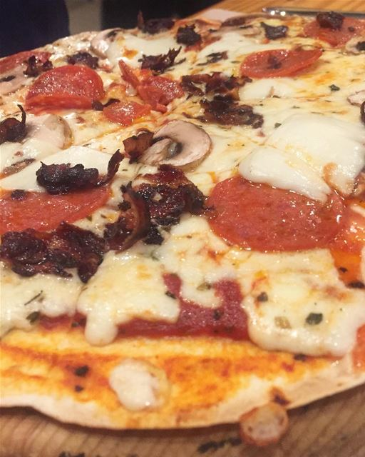 Pizza anyone? @youmnayounes 👸🍕🍕... (Sandwiched Gemayzeh)
