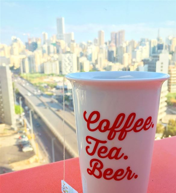 Beer 🍺 First. coffee tea beer greentea work working menatwork ... (Beirut, Lebanon)