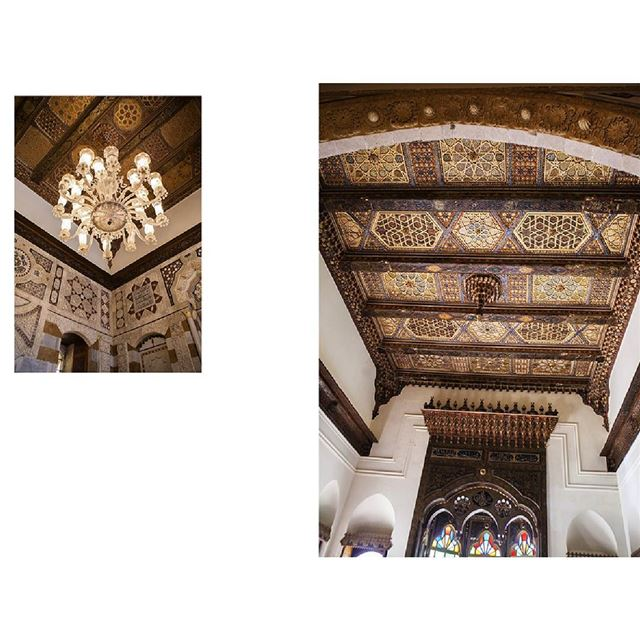 Ceilings beiteddine palace lebanesearchitecture chouf mountlebanon ...