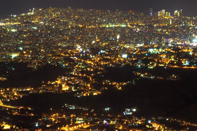 Beirut city Lights lebanon_hdr lebanon sightseeing landscape nature l4l... (`Alayh, Mont-Liban, Lebanon)