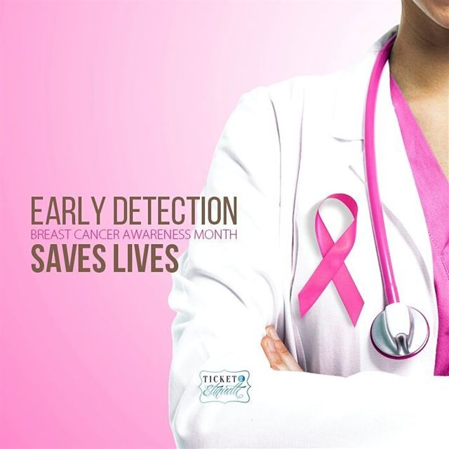Early detection saves lives pink thinkpink October breastcancer ... (Beirut, Lebanon)