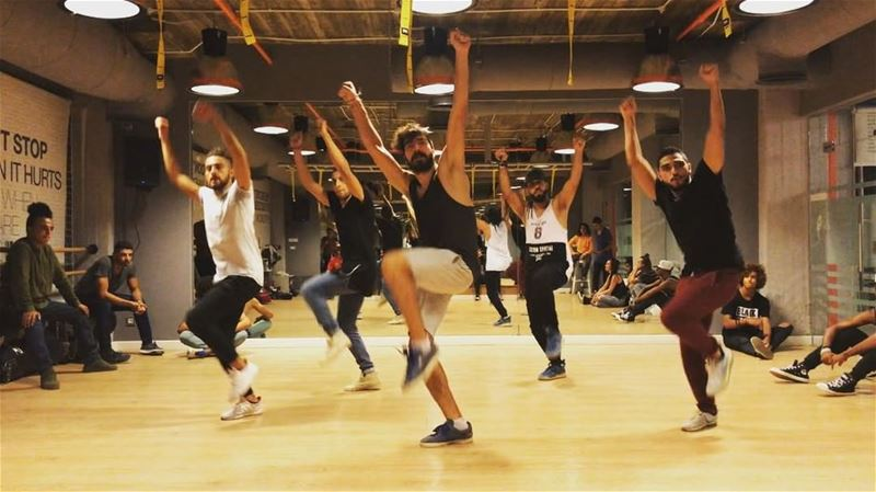 The boys killing my choreography during auditions in Egypt of the flashmob... (Americana Plaza)