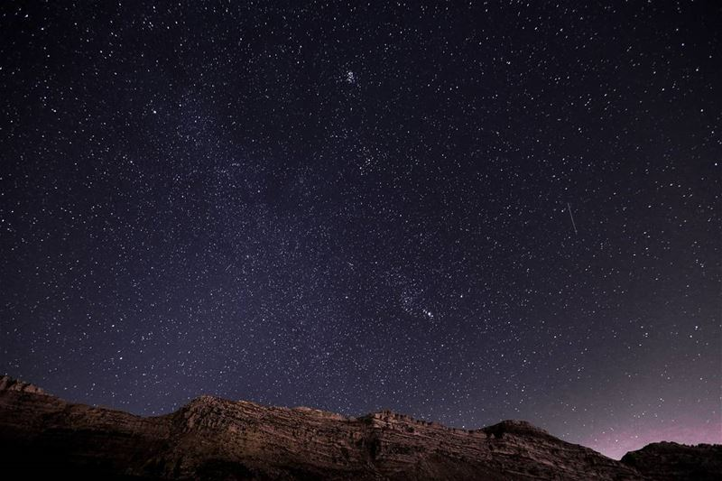 If you ever thought you're a big shot, just look up 🌌.... space ... (Akoura, Mont-Liban, Lebanon)