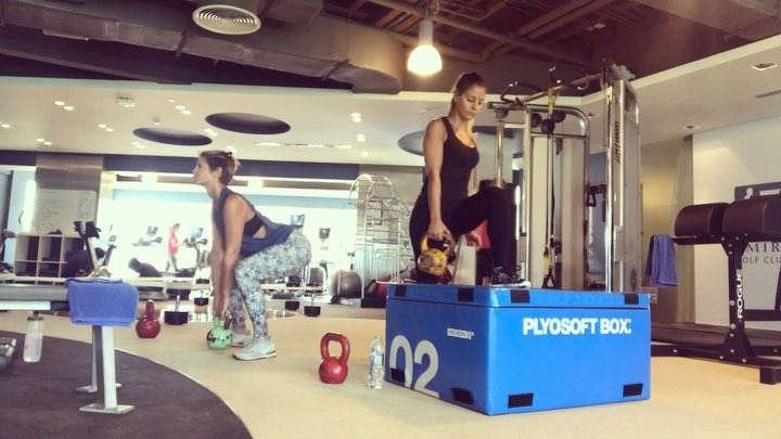 @mlgray79 in da house 😘💙 a workout is always more fun when you have a... (Dubai, United Arab Emirates)