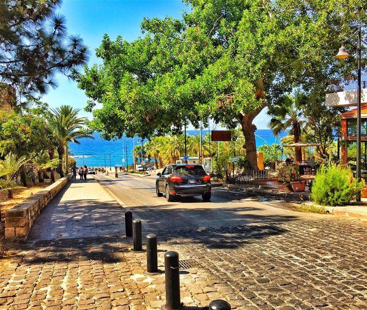 Let the Blue SKY meet the Blue SEA 💙 livelovebyblos lebanonspotlights ... (Byblos, Lebanon)