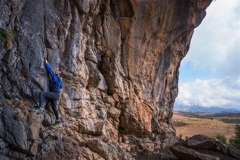 Climbing caves lebanon ... (Qartaba)