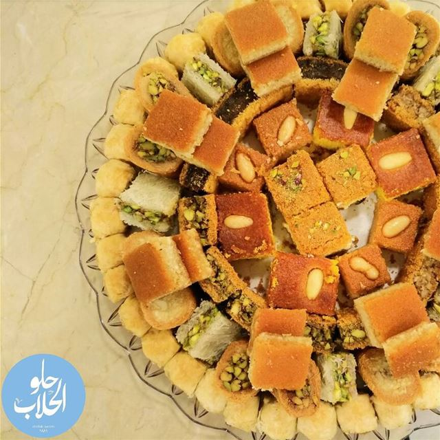 A royal plate of baklava + maddat 😍👍the yummiest oriental desserts for... (Abed Ghazi Hallab Sweets)