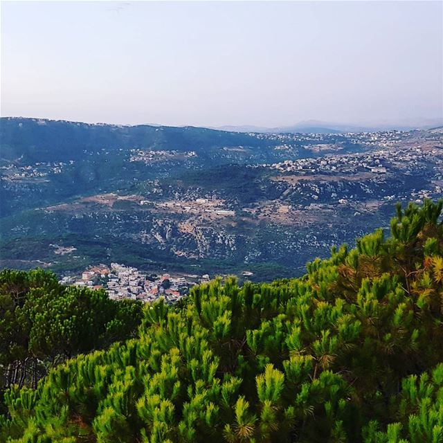 This view from Qarnayel my village you can see Bzebdine down in front...