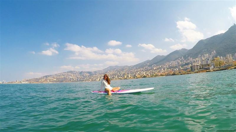 The world is all yours Maria :)- -No where better to rest but in the sea... (Surf Shack Lebanon)