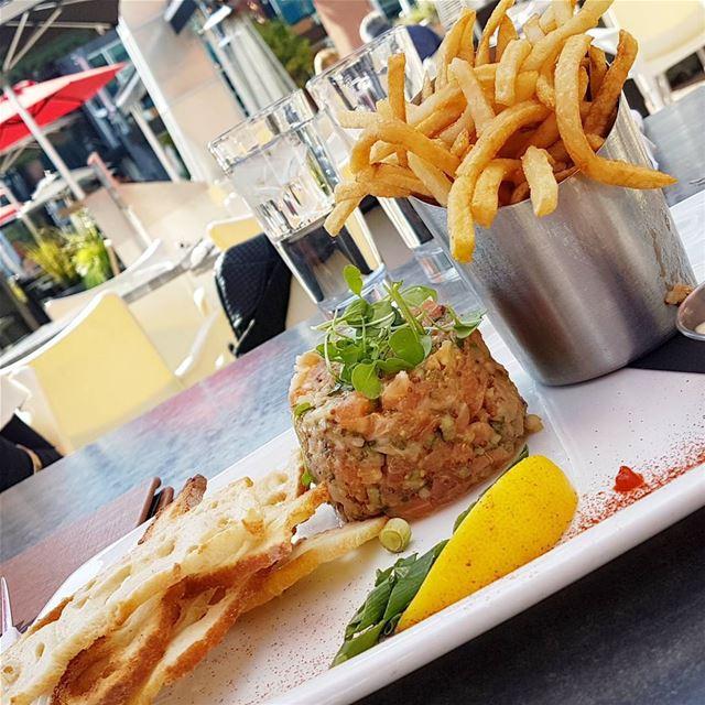 Salmon Tartare 🐟 thecookette montreal canada lebanese lebanon ... (Restaurant ZIBO)