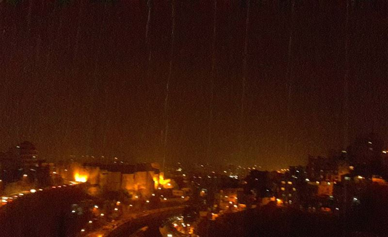 The first rain for this season....Amazing feeling, beautiful smell!... (Tripoli, Lebanon)
