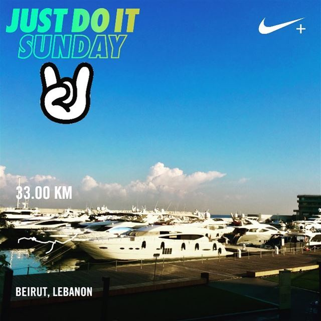 33km! There is no finish line!  sunday morning!  🏃🏻 beiruncrew ... (Zaitunay Bay)