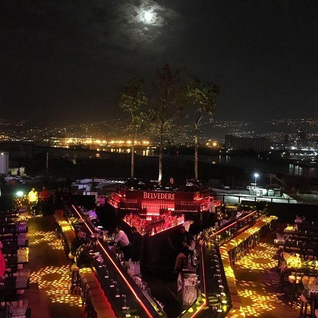 fullmoon nightout porscheclublebanon skybar beirut bynight lebanon ... (SKYBAR Beirut)