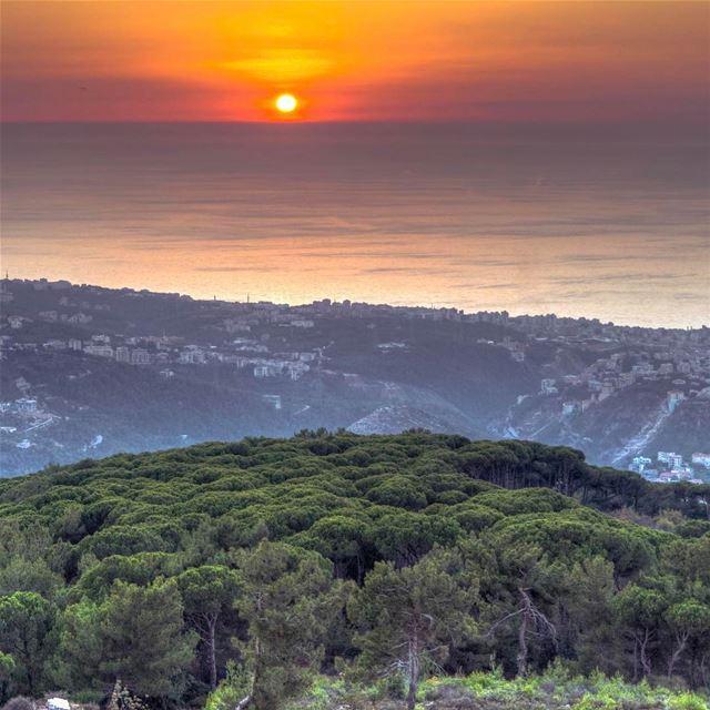Kayfoun Sunset sunshine lebanon landscape nature lebanon_hdr... (Kayfun, Mont-Liban, Lebanon)