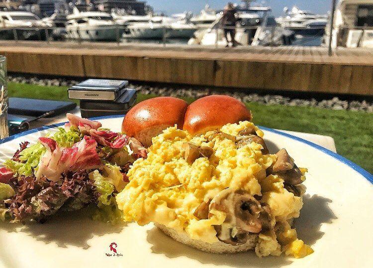 Sunday breakfast with a view ☺️.====================📍 @coastleb .====== (Zaitunay Bay)