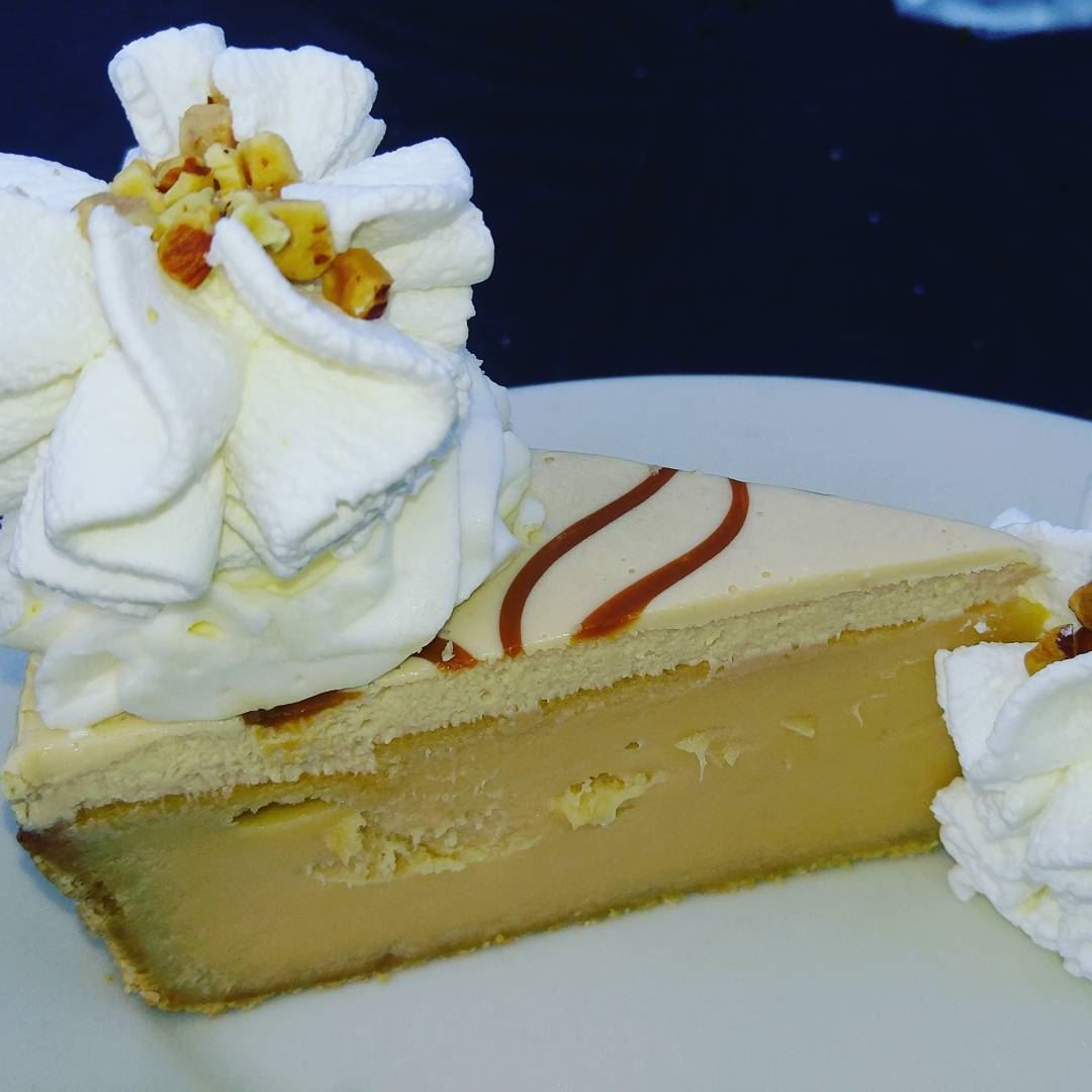 Welcome winter with a piece of cheesecake caramel sweet loveyourself ... (The Cheesecake Factory Lebanon)