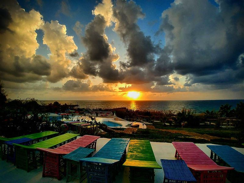 Colorful Sunset before the Storm!By Ghassan_Yammine sunset icu_sunset ... (Lazy B)