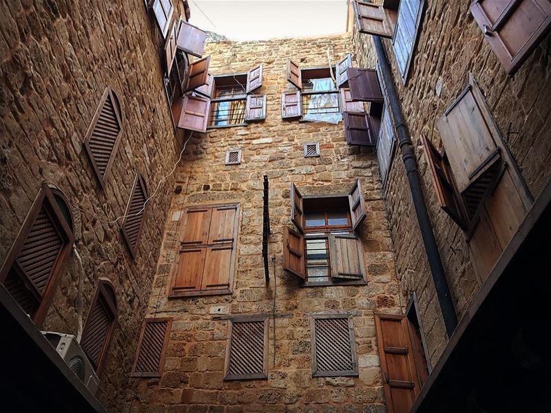 How many windows can you count? windows windowsoftheworld oldsaida ... (Sidon, Lebanon)