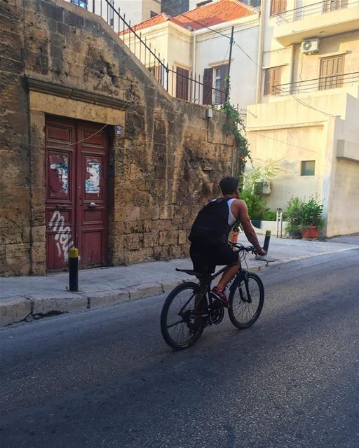 Life is a beautiful ride 🚲......... livelovebikes bicycle ... (Achrafieh, Lebanon)