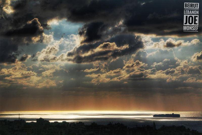 beirut lebanon sea boats sunset ...