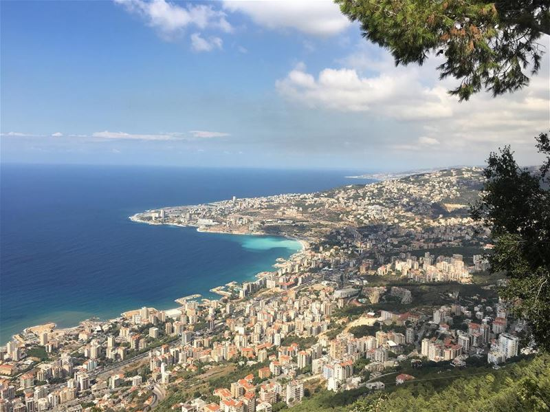 Amazing sea view for gulf of Jounieh from Harrisa. nofilter... (Harîssa, Mont-Liban, Lebanon)
