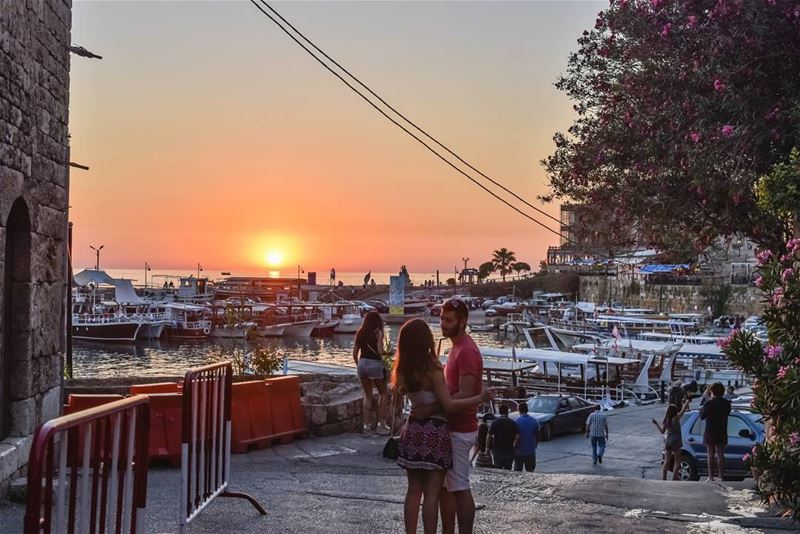 Romantic sunset in the oldest city of the world, 7000 years continuously... (Byblos, Lebanon)