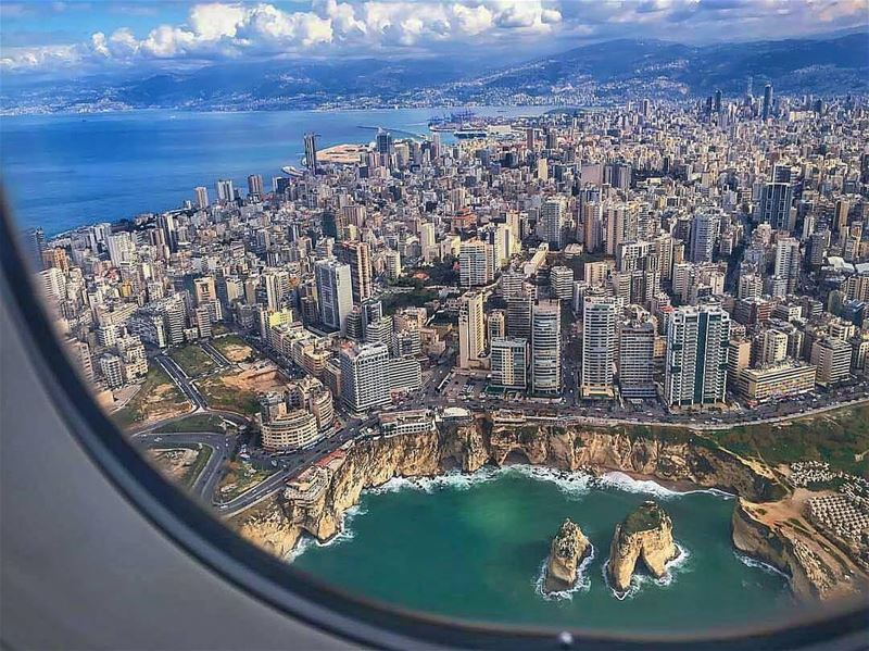 Beirut from the plane view...By @s.sash_photos AboveBeirut Beirut ... (Beirut, Lebanon)